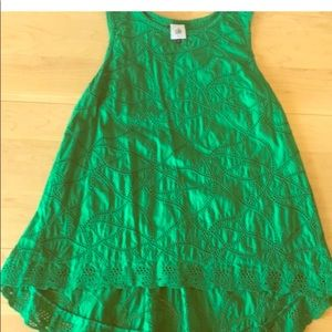 Kelly green lace high low top/sm.but will fit med.